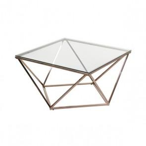 Tavolo Aggiuntivo Acciaio inossidabile Vetro (80 x 80 x 45 cm)