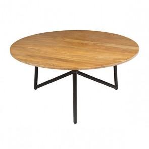 Tavolino da Caffè (90 x 90 x 40 cm) Rotundă Legno di mango
