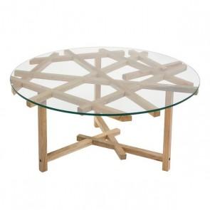Tavolino da Caffè (90 x 90 x 45 cm) Geam Legno di mango