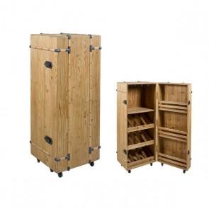 Portabottiglie Cabinet Legno di abete (126 X 50 x 50 cm)