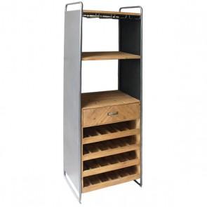 Portabottiglie Metal & Wood (59 x 179 x 39 cm)