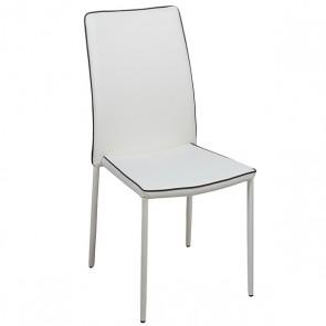 Sedia da Sala da Pranzo Pvc Metallo Bianco (44 X 42 x 96 cm)