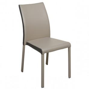 Sedia da Sala da Pranzo Ecopelle Metallo (45 X 45 x 90 cm)