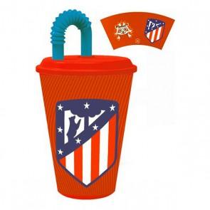 Bicchiere con Tappo Atlético Madrid Plastica
