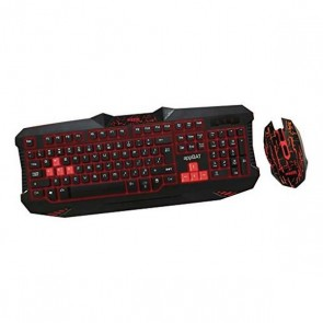 Tastiera e Mouse Gaming approx! APPBAT Nero Rosso