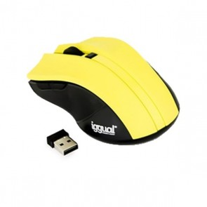 Mouse Ottico Wireless iggual IGG315385 1600 dpi 2,4 GHz Giallo