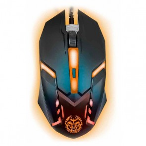Mouse Gaming iggual IGG315828 LED Nero Arancio