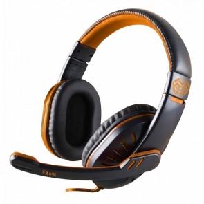 Auricolari con Microfono Gaming iggual ONAJI Nero Arancio
