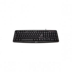 Tastiera iggual CK-BASIC-105T QWERTY USB Nero
