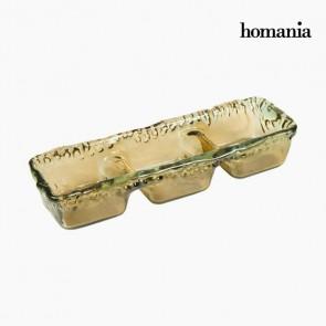 Centrotavola in Vetro Riciclato Ambra - Crystal Colours Deco Collezione by Homania