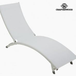 Lettino (180 x 55 x 25 cm) Alluminio Bianco
