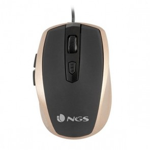Mouse Ottico Mouse Ottico NGS TICKGOLD OPTICAL USB 800-1600 DPI Nero
