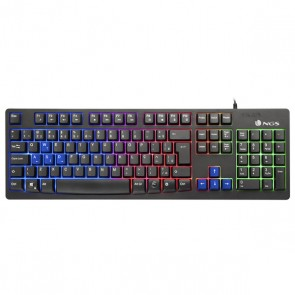 Tastiera per Giochi NGS GKX-300 PLUG&PLAY USB LED Multicolor Nero