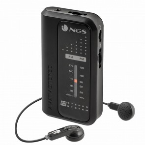 Radio Transistor NGS Code Knock AM/FM 108 MHz Nero