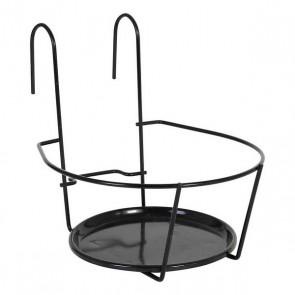 Supporto da Balcone per Appendere Vasi Metallo Nero (ø 19 cm)