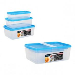 Set di 3 scatole porta pranzo Privilege Agata Plastica