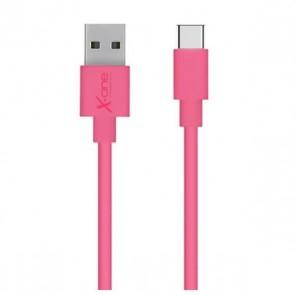 Cavo USB A 2.0 con USB C Ref. 101172 Fucsia