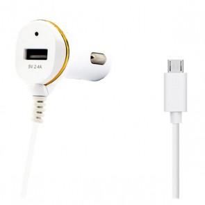 Caricabatterie per Auto Ref. 138192 USB Micro USB Bianco