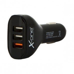 Caricabatterie per Auto Ref. 138260 3 x USB-A Nero