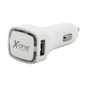 Caricabatterie per Auto Ref. 138376 2 x USB-A Bianco