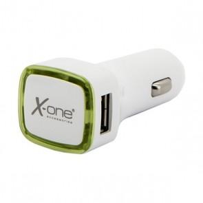 Caricabatterie per Auto Ref. 138413 2 x USB-A Bianco Verde
