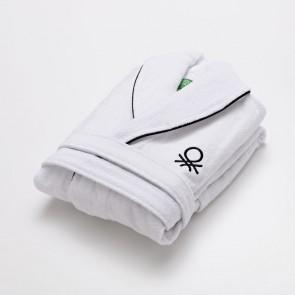 Accappatoio Benetton Bianco 100 % cotone