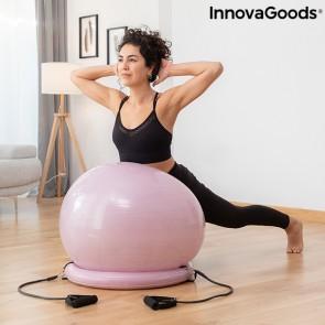 Gym Ball con Anello di Stabilità e Fasce di Resistenza Ashtanball InnovaGoods