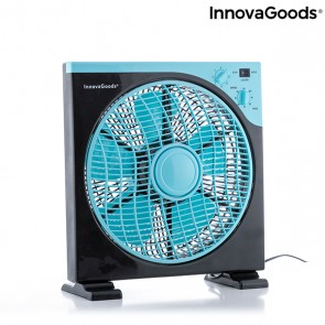 Ventilatore da Terra Box InnovaGoods Ø 30 cm 50W Nero Azzurro