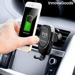 Supporto per Cellulare con Caricabatterie Senza Fili per Auto Wolder InnovaGoods
