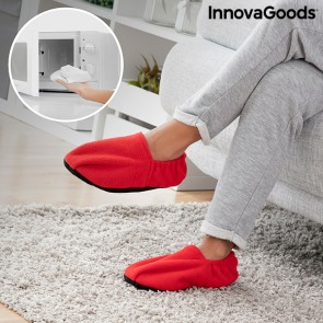 Pantofole Riscaldabili in Microonde InnovaGoods Rosso