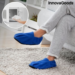 Pantofole Riscaldabili in Microonde InnovaGoods Azzurro