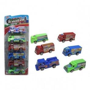 Set di Mini Camion Wheeler Assortimento (6 Pcs)
