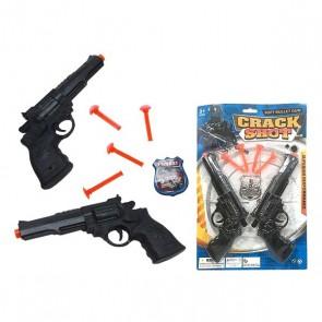 Set 2 Pistole Spara Freccette Crack Shot