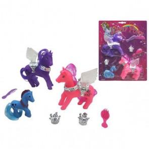 Figure di animali Lovely Pony (3 pcs)