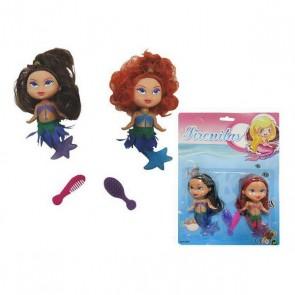 Set di Bambole Little Mermaids (2 uds)