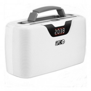 Radio Portatile Bluetooth SPC Radio Storm Boombox 4503B 20W Bianco