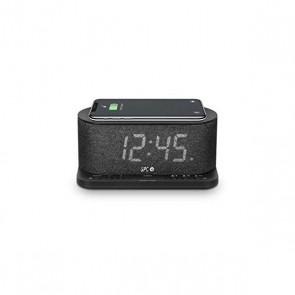 """Radio Sveglia con Caricabatterie Wireless SPC 4582N 4,3"""" LED USB Nero"""