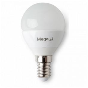 Lampadina LED Sferica MegaLed GIG14E-P45 4,5W E14 2700K 380 lm Luce calda