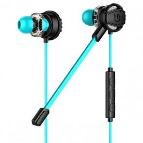 Auricolari con Microfono Gaming Hiditec GHE010002 (3.5 mm) Nero Azzurro