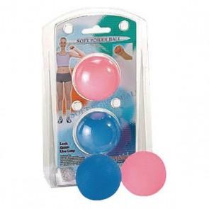 Pallina per Rinforzare le Mani Atipick Soft (2 uds) Azzurro Rosa Gomma