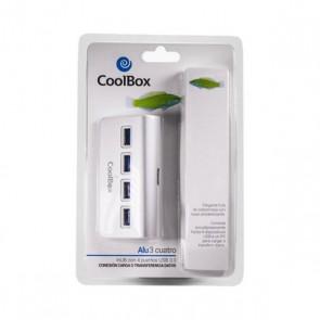 Hub USB CoolBox COO-HU4ALU3 Alluminio (4 porte)