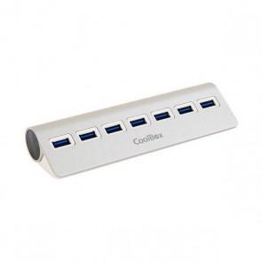 Hub USB CoolBox COO-HU7ALU3 Alluminio (7 porte)