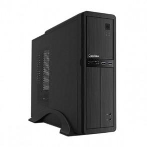 Cassa Minitorre Micro ATX con Unità di Alimentazione CoolBox COO-PCT300U3-1 Nero