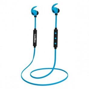 Auricolari Bluetooth con Microfono CoolBox COOLSPORTII Azzurro