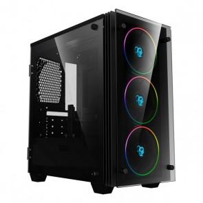 Casse Semitorre Micro ATX / Mini ITX CoolBox COO-DGC-M192-0 RGB LED Nero