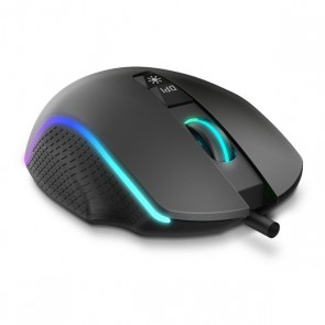 Mouse Gaming con LED Krom Keos 6400 dpi RGB Nero