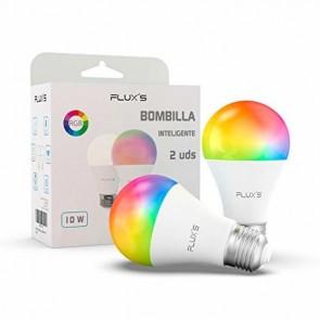 Lampadina Intelligente Flux's LED Wi-fi E27 10W Multicolore (2 pcs)