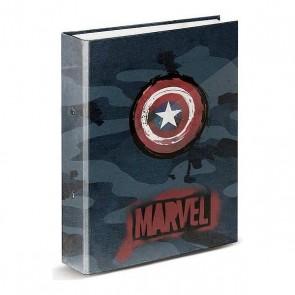 Raccoglitore ad anelli Captain Marvel (33 x 28 x 5 cm)