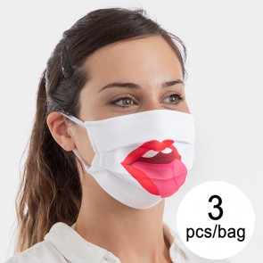 Mascherina Igienica in Stoffa Riutilizzabile Taglia M (Pacco da 3 pz) Protezione