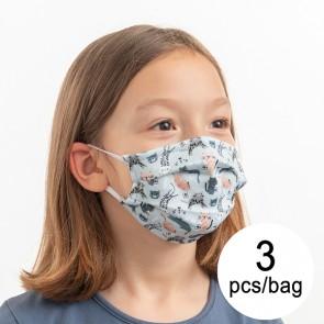 Mascherina Igienica in Stoffa Riutilizzabile Protezione Per bambini (Pacco da 3 pz)